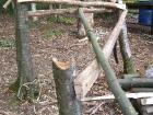 Pole in the break, using side rail